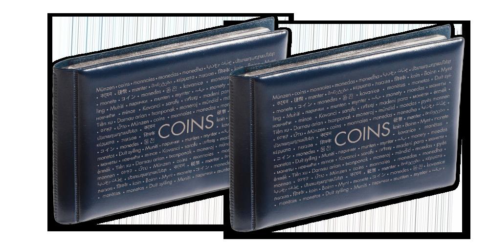 Vreckový zberateľský album ROUTE na 48 mincí, 2 kusy