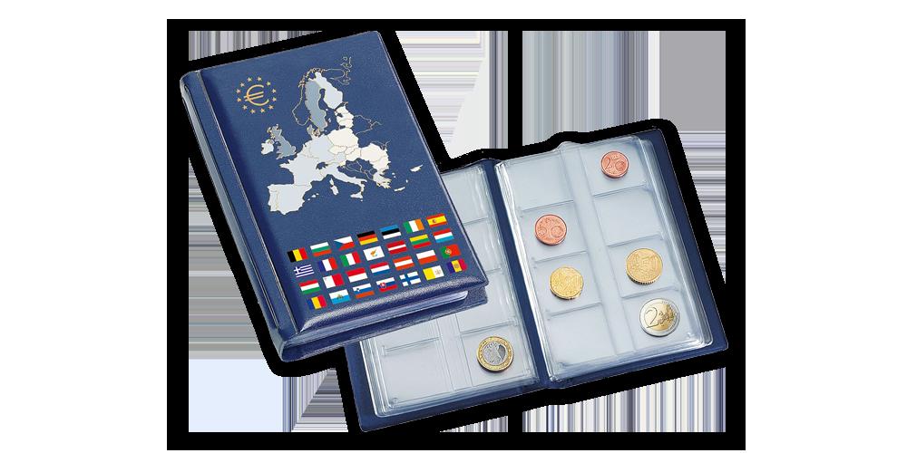 Vreckový zberateľský album ROUTE Euro na 12 sád obehových euromincí