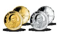Sada dvoch medailí z rýdzeho striebra
