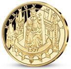 Pamätná medaila Karol IV. zušľachtená rýdzim zlatom