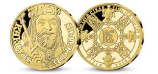 Pamätná medaila Karol IV. zo 14-karátového zlata