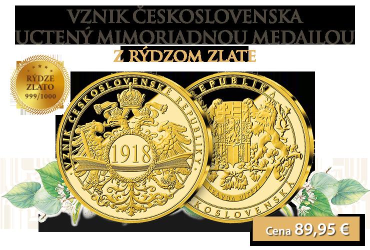 Numizmatická premiéra - Vznik ČSR v rýdzom zlate