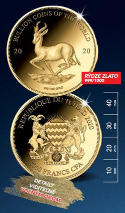 Zlatá minca – motív Krugerrand