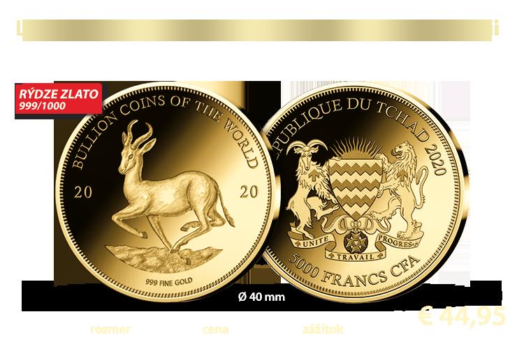 Legendárny motív Krugerrandu v novej dimenzii