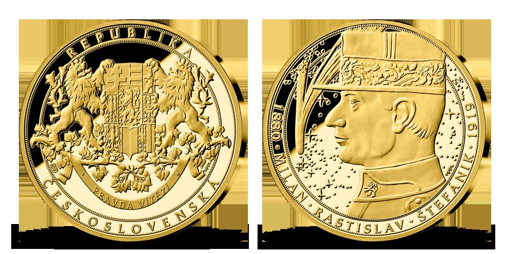 Pamätná zlatá medaila M.R.Štefánik