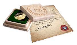 Drevený box s logom Santa Claus Fundation a originálny list od Santa Clausa