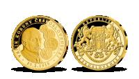 Razba Vznik koruny československej rýdze zlato 999/1000
