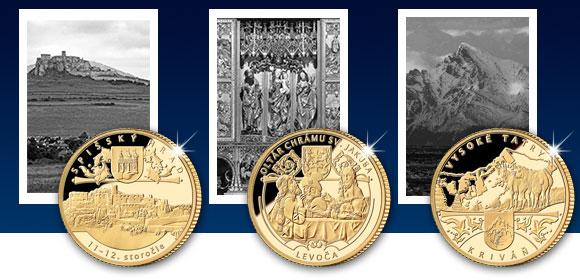 Zlaté pamätné medaily Spišský hrad, Oltár Majstra Pavla v Levoči a Kriváň