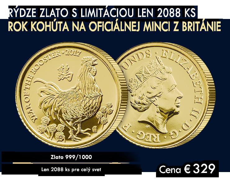 Rok kohúta na oficiálnej zlatej minci