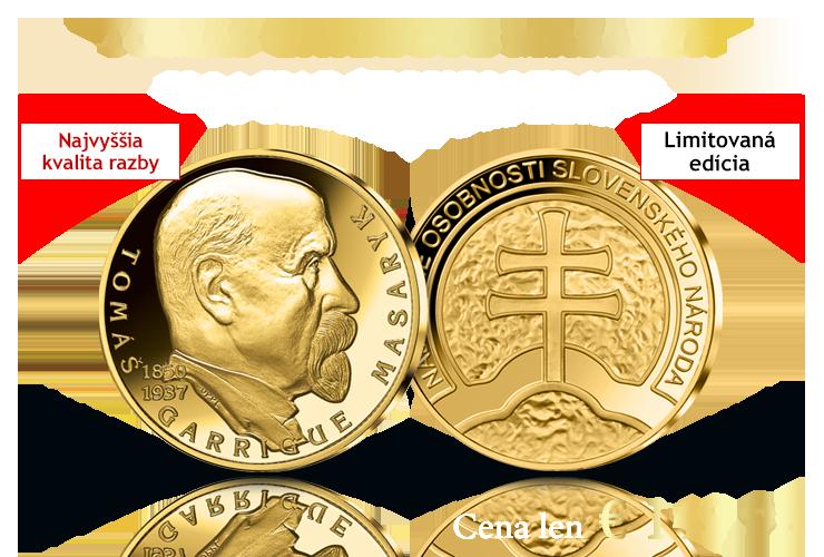 Tomáš Garrigue Masaryk v 14-karátovom zlate!