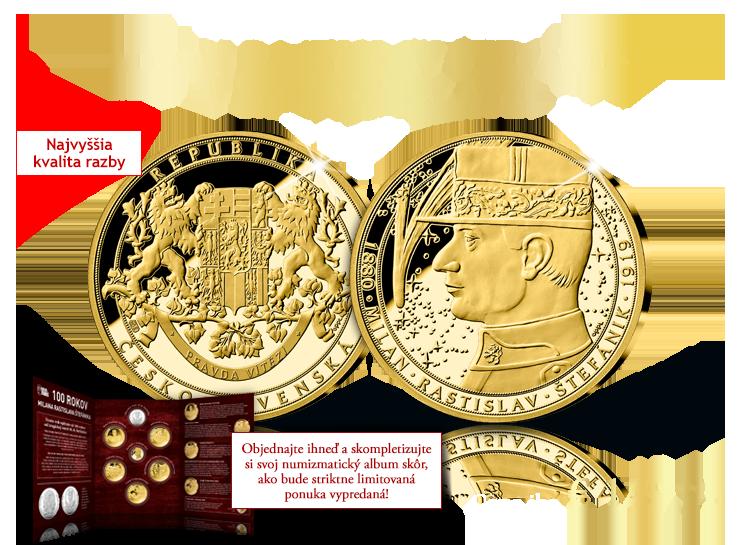 Milan Rastislav Štefánik v rýdzom zlate!