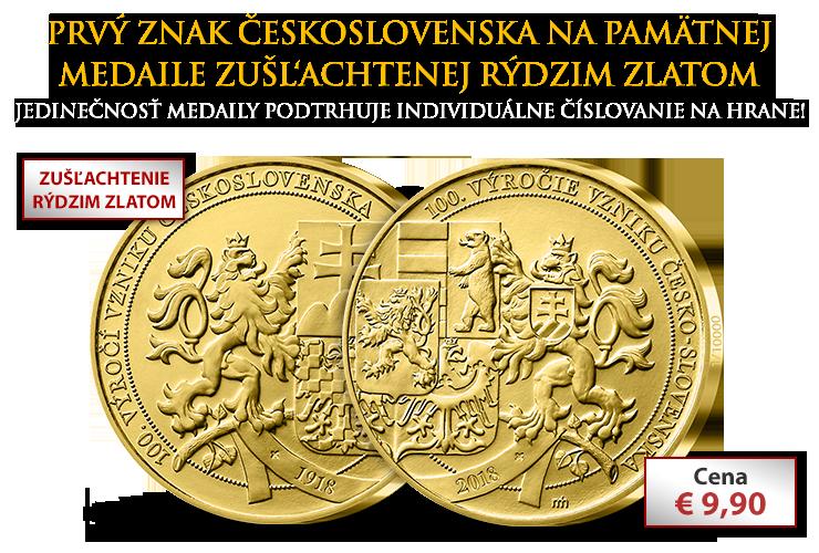 Medaila k 100. výročiu založenia Československa