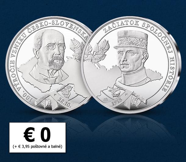 100. výročie vzniku Česko-Slovenska – pamätná medaila pre každého ZADARMO