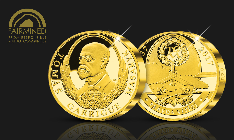 Novú zlatú medailu z certifikovaného zlata zdobí portrét T. G. Masaryka
